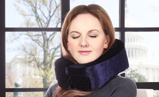 午睡旅行必备人体工学记忆棉颈枕护颈U型枕,居然还获得美国专利