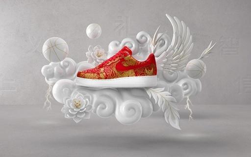 Nike新年定制服务,中国元素配色喜庆