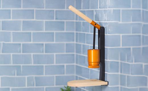 能挂在墙上的咖啡机,杠杆手压萃取更醇厚