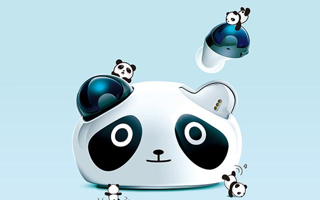 Brookstone熊猫真无线蓝牙耳机