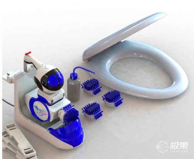 奥坦马桶清洁机器人!藏污纳垢收拾不到,它都能帮你搞定!