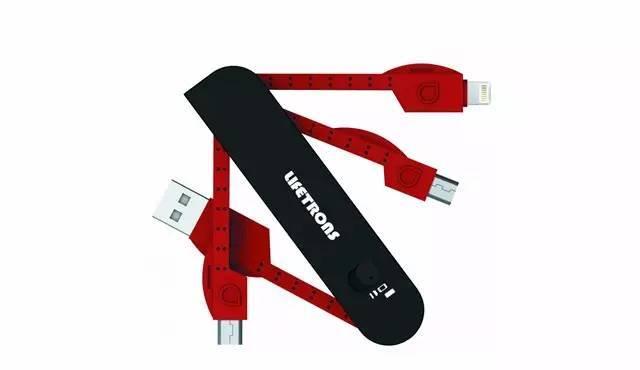 NativeUnionKEY钥匙环llighting数据线适用于iPhone6/S620cm苹果-红色