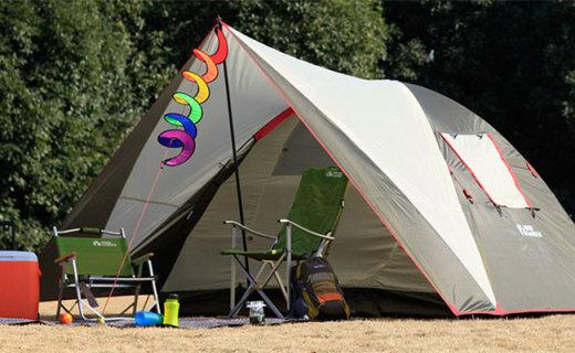 牧高笛多人露营帐篷:多涂层防水抗风,大容量全家出游必备