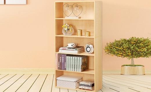 Homestar书架:枫木色实木板材,开放式设计更实用