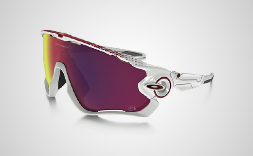 欧克利环法限量骑行眼镜,抗冲击镜片超大视野