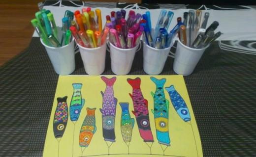 Lolliz彩色中性笔套装:线条流畅着色强,100种颜色随意DIY