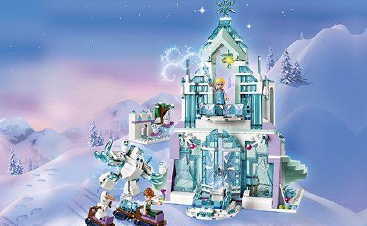 乐高艾莎公主积木:逼真场景多种玩法,冰雪城堡满足童心