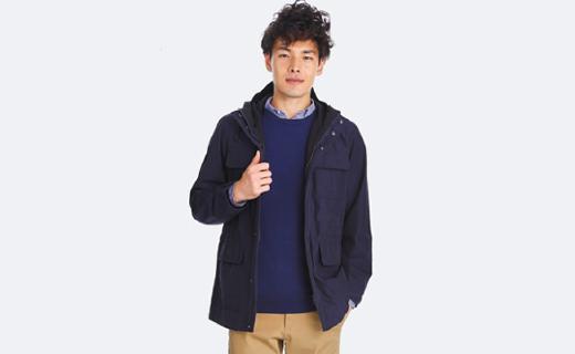 优衣库登山外套:防水面料棉纶材质,舒适保暖款式时尚