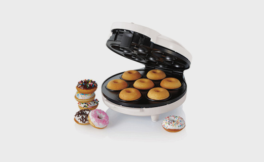 Oster甜甜圈机:上下两层同时加热,出炉只需5分钟