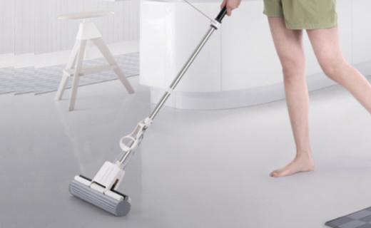 Topoto海绵拖把:吸水性强好清洗,正反两用拖地不累