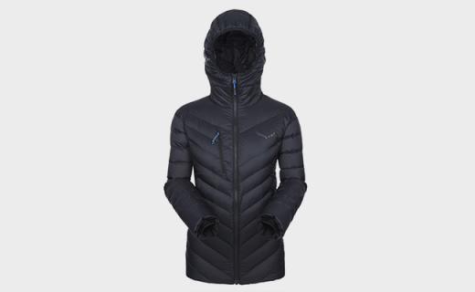 沙乐华户外羽绒服:修身裁剪舒适穿着,防水抗风