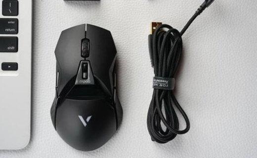 反应灵敏 定位准确,吃鸡爆头更Easy,雷柏VT950鼠标使用评测