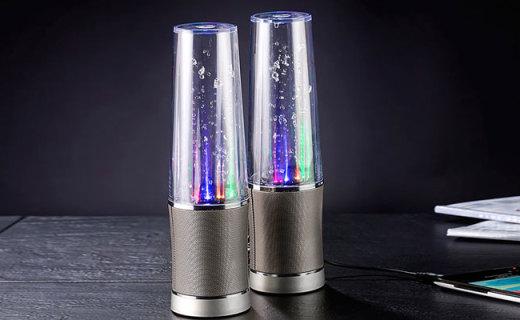 Pearl台式音箱:喷泉原理设计,炫彩水舞的艺术