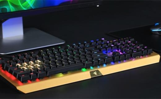 金光闪闪!雷蛇发布幻彩耀金版黑寡妇键盘