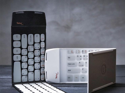 Wekey折叠蓝牙键盘:3mm超薄机身,蓝牙连接不挑设备