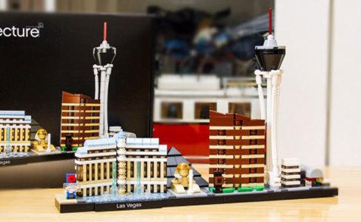 结构巧妙造型酷,拼搭简单易组装,乐高建筑系列拉斯维加斯评测