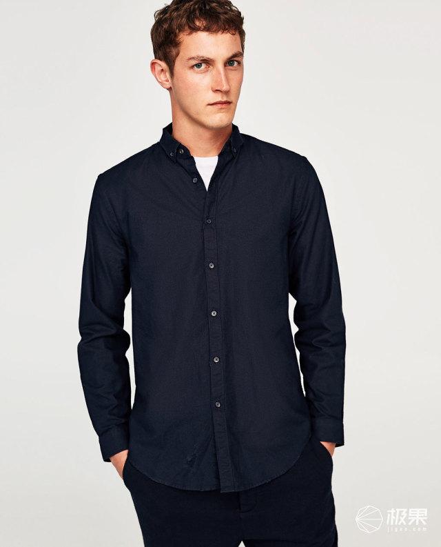 ZARA牛津长袖衬衫