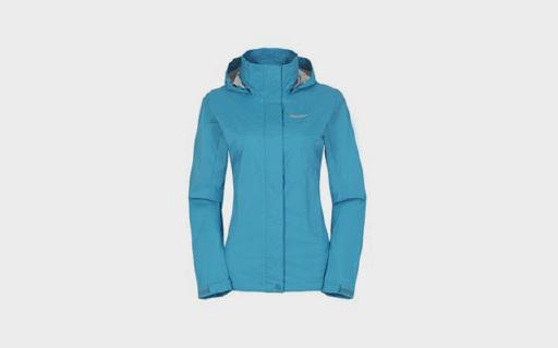 土拨鼠女式冲锋衣:涂层压胶面料防水透气,抽绳设计防风保暖