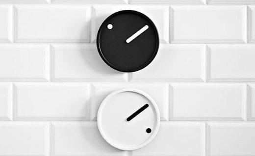 Rosendahl极简挂钟:极简表盘无读数,一针一点即能表达时间