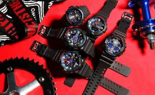 G-SHOCK力挽狂蓝系列:红蓝撞色设计,890元起