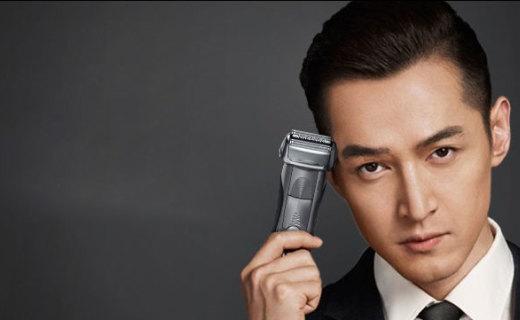 博朗7系剃须刀:智能精准交叉修剪,大大减少皮肤刺激