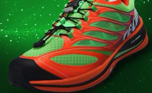 泰尼卡男款越野跑鞋:全脚掌滚动系统,耐磨防滑