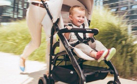 英吉利那婴儿推车:一按一提秒收合,滚珠式轴承避震呵护宝宝