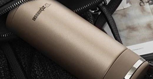 象印JD48不锈钢真空保温杯:不锈钢材质坚固耐用,真空内胆高效保温