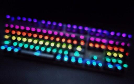 简洁无边框,自定义灯效,机械键盘入门之选 — 雷柏V700RGB机械键盘评测
