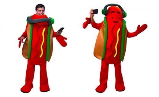 Snapchat 网红滤镜变同款道具服,跳舞热狗超萌