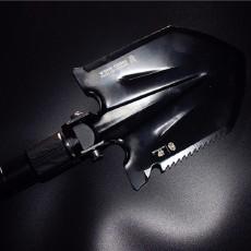 户外出行带上它即能当工具又能防身,汉道多功能工兵铲
