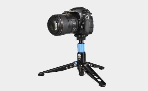 思锐P-204S相机支架:360度可旋转云台,铝合金材质稳定性高