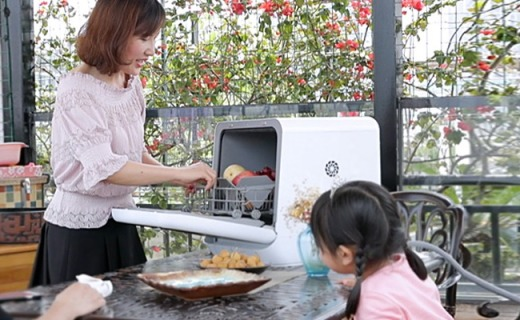 美的M1洗碗机:五大清洁功能,同时可洗22件餐具