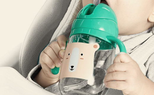 babycare B2700学饮杯:Tritan材质,单向进气不漏水防胀气