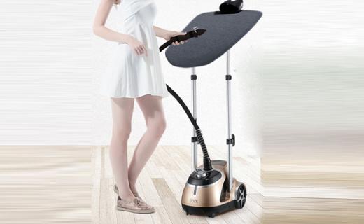 贝尔莱德挂烫机:强劲蒸汽6档可调,握持舒适预热快