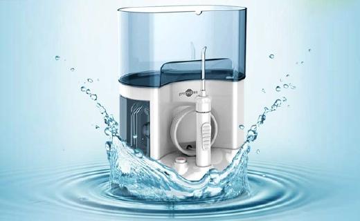 博皓5101冲牙器:1600ml大容量水箱, 5档水压多种模式可选