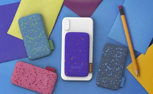 吸附在手机背面的充电宝:外形炫酷,防水防尘