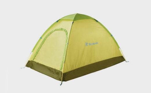 探路者TEDC80617-B07X帐篷:单层聚酯面料轻盈防水,三季可用