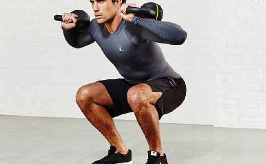 迪卡侬16kg壶铃:轻松锻炼肌肉与心肺功能,磨砂握柄使用舒适