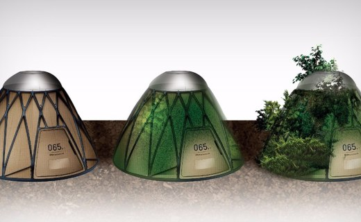 用完能充当可降解温室,这个帐篷获2017红点奖