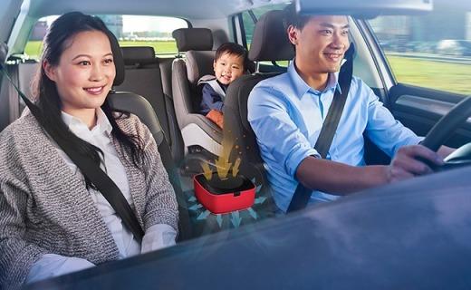 飞利浦车载空气净化器,除霾滤菌还能防过敏