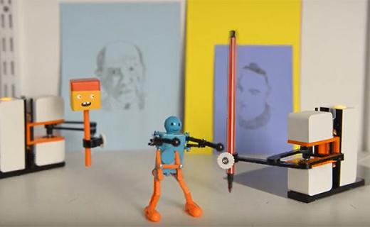 会模仿你画画写字的机器人,老师罚抄再也不怕了