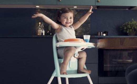 BabyBjorn宝宝餐椅:弧形靠背舒适安全,大品牌更可靠