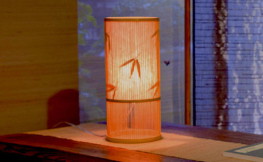 NatureBamboo台灯:精选楠竹材质,自然肌理朴素淡雅