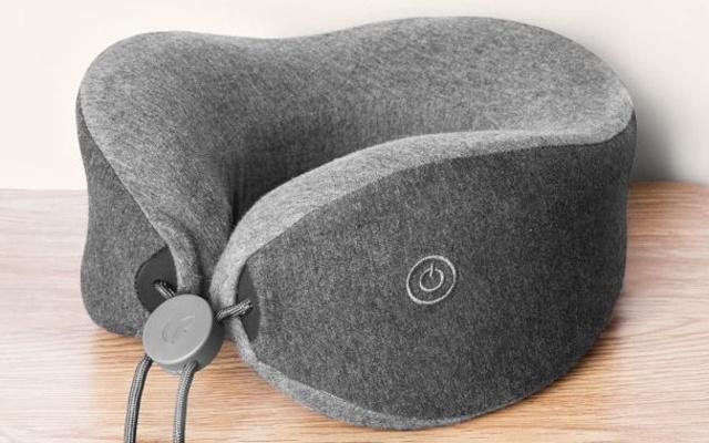 乐范按摩助眠颈枕体验:智能按摩释放压力   视频