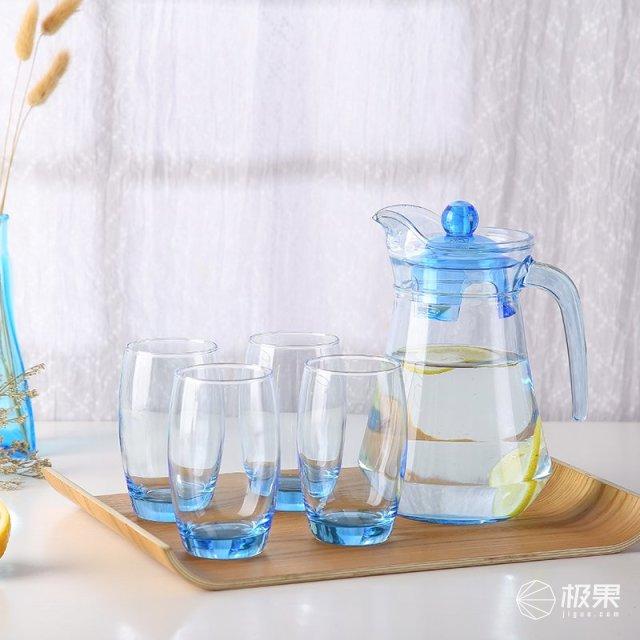 乐美雅(Luminarc)鸭嘴壶凝彩水具5件套