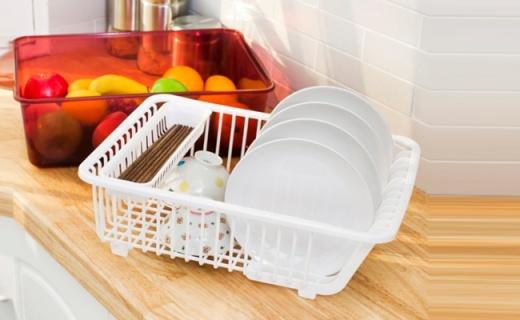 LivingMore碗碟沥水篮:健康环保材质,出色滤水干净卫生