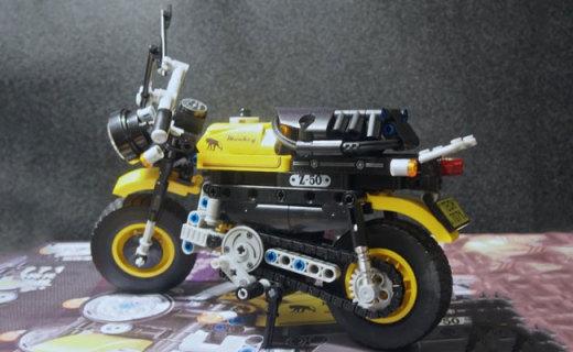 造型细节能媲美乐高的国产积木,卫乐7071科技拼装摩托车体验