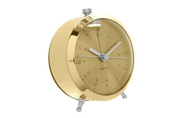 Karlsson镀铜按钮闹钟