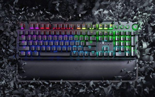 雷蛇黑寡妇蜘蛛精英版游戏机械键盘